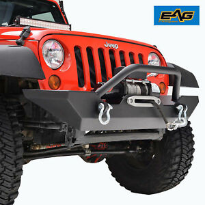 Jeep Wrangler Jk Rock Crawler Front Bumper With Winch Plate