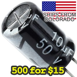 500 For 15 Electrolytic Capacitors 10uf 50v 100uf 50v