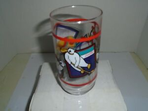 Collectible Coca Cola Drinking Glass 1995 Polar Bear In Winter Sports