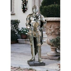Ancient Italian Greek Medieval Knight In Shining Armor Replica Sculpture 39 5 H
