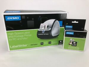 Dymo Labelwriter 450 Turbo Label Thermal Printer W Lw Multipurpose Labels