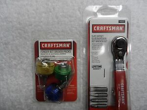 Craftsman Finger Screwdriver Bit Ratchet Wrench Set Usa P n 41390 46157