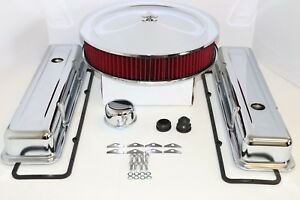Sbc Chrome Engine Dress Up Kit Short Valve Covers Washable Air Cleaner 58 79 350
