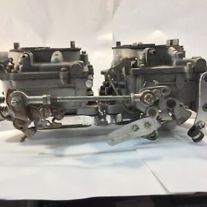 Pair Of Carter Afb Carburetors On A Polished 4 71 Gmc Blower Adapter