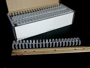 3 4 Double Binding Wire 2 1 Pitch Twin Loop White Binder Spines 21 Loop 50 box