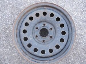 17 Chevy Gm Truck Spare Tire Wheel Oem Awfly Steel 17x7 5 Chevrolet Suv
