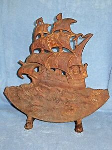 Antique Large Cast Iron Ship Door Stop