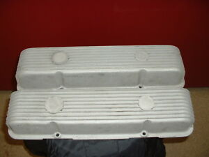 Cal Custom Finned Valve Covers Sbc Gasser Hot Rat Rod