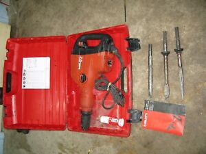 Hilti Te 706 Demolition Chipping Hammer W 3 Bits And Case