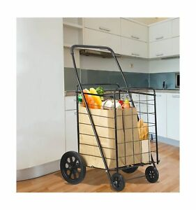 Premium Extra Large Heavy Duty Folding Shopping Grocery Storage Cart Jumbo Size