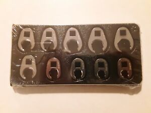 Snap On 3 8 Metric Flare Nut Crowfoot Wrench 10 Piece Set 210frhma