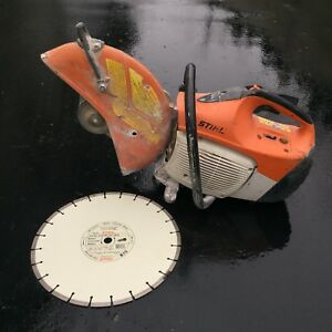 Stihl Ts420 Concrete Cut off Saw With New Stihl 14 Diamond Blade
