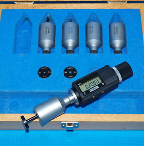 080 236 Bowers Mkii Digital Small Hole Bore Gage Set With Diatest Set Rings