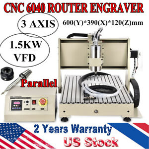 Cnc 6040 Router Engraving Machine Drilling Engraver 1 5kw Metal Wood Cutter Top