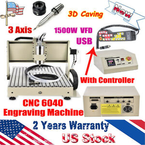 3 Axis Cnc 6040 Router Machine Engraver 3d Caving Metal Milling