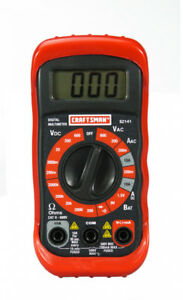 Craftsman Multimeter Manual Ranging Measures Ac Voltage Current And Resistance