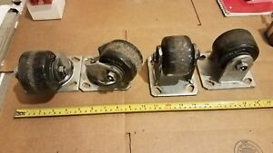 Albion Heavy Duty Industrial Casters Set Of 4 Roller 3 X 2 Oa 4 High