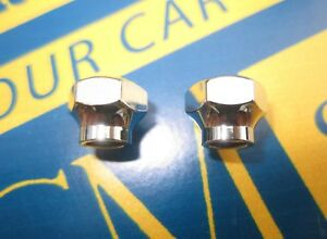 1936 1940 Gm Windshield Wiper Arm Retaining Nuts Pair Chrome Plated
