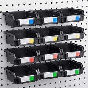 Pegboard Bins 12 Pack Hooks To 1 4 Or 1 8 Hole Board Organize Hardware Tool