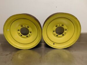 John Deere Unstyled A Tractor 4x16 Solid Riveted Dish Front Rims 13625