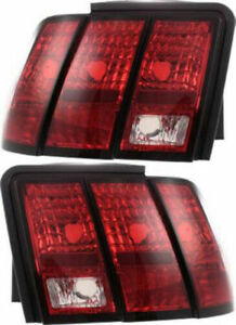 New Depo Tail Light For 1999 2004 Ford Mustang Base Gt Driver Passenger Set 2