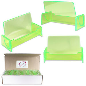 Hq Acrylic Plastic Business Name Card Holder Display Stand clear Green