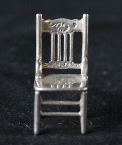 Miniature Sterling Silver Chair Stamped Medusa Oro 175 Ar