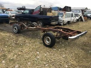 1973 1987 Chevy Pickup Truck C10 Frame Rolling Chassis Regular Cab Short Bed 4x2