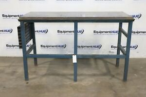 67 X 27 1 2 X 1 3 8 Thick Steel Welding Work Bench Fabrication Table