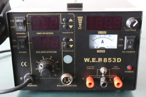 W E P 853d Smd Dc Hot Air Rework Soldering Station Welder