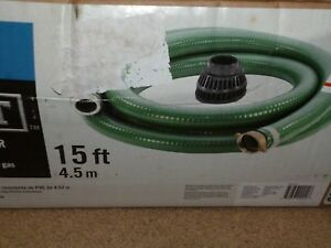 Everbilt 2 Suction Hose Kit 15ft Use With Gas Engine Water And Trash Pumps