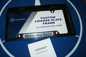 Q6880088 Mercedes Benz Oe Factory Black Stainless Steel License Plate Frame