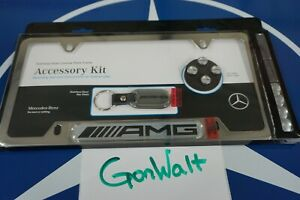 Q6990003 Mercedes Benz Oe Factory Amg Stainless Steel License Plate Frame Gift