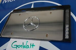Q6880058 Mercedes Benz Oe Factory Front License Plate Frame Star Logo Marque