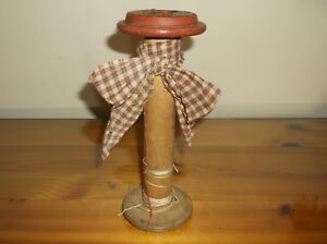 Primitive Shabby Vintage 9 Wooden Spool