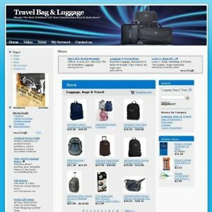 Travel Bag Luggage Online Web Store Business Website For Sale Free Domain Name