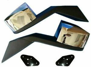 Chrome Pair Hood Mirrors Left Right Side Towing For Volvo Truck Vn Vnl 04 up