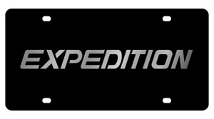 Ford Expedition Stainless Steel 3d Logo Finish License Plate