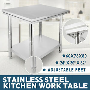 Stainless Steel Work Table Kitchen Utility Work Bench Table 24 X 30 18 Gauge