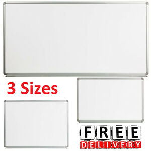 Whiteboard Magnetic Marker Size Tray Dry Erase Office School Business Large Wall