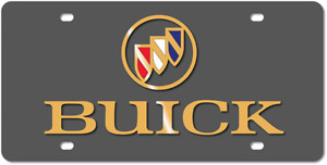 Buick Gold Emblem Carbon Stainless Steel 3d Logo Finish License Plate