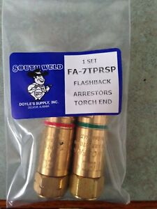 Item 555 one Set Welding Oxy Acetylene Flashback Arrestors Torch