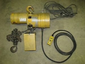 Budgit 1 Ton Electric Chain Lifting Hoist 3 Phase 1 Hp With 16 Fpm Lift Speed
