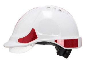 Portwest Red Reflective Stickers For Safety Helmets Hats 10pk 70 Stickers
