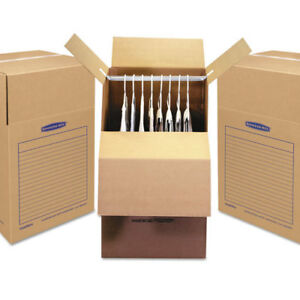 Smoothmove Wardrobe Boxes 24l X 24w X 40h Kraft blue 3 carton