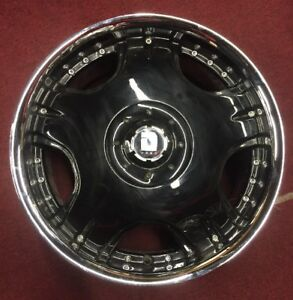 20 Inch Drag Dc1 Blank Black And Chrome Wheel 14 With Cap