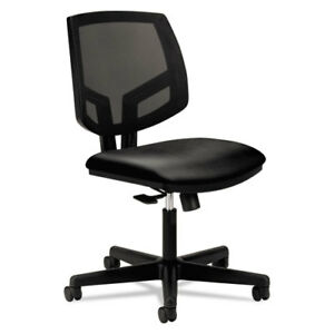 Volt Series Mesh Back Leather Task Chair Black
