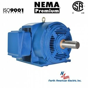 20 Hp Electric Motor 256t 3 Phase 1765 Rpm Open Drip Proof Cast Iron 208 230 460