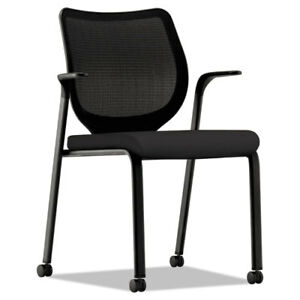 Nucleus Series Multipurpose Stacking Chair With Ilira stretch M4 Back Black