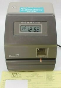 Acroprint 175 Electronic Digital Time Clock Stamp Recorder Punch Key